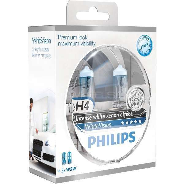 Philips White Vision H4 made in poland Image-1