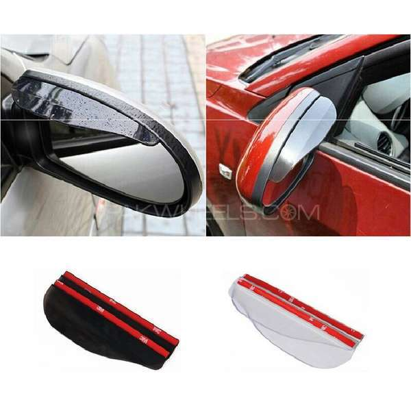 2 pcs lot car universal rain shield rear mirror cover Image-1