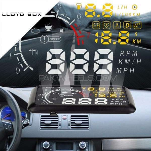 HUD Head Up Display For OBD2 Cars Image-1