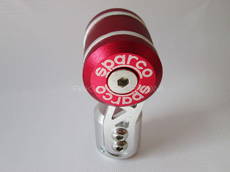 Gear Knob - Sparco Red & Silver Image-1