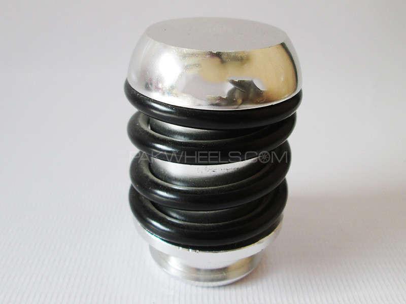Gear Knob - MOMO Silver & Black Spring Image-1