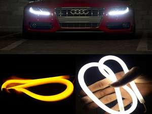 Audi Style DRL Flexible Light - With Indicator in Lahore