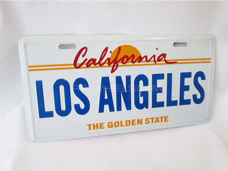 Number Plate - LOS ANGELES Image-1