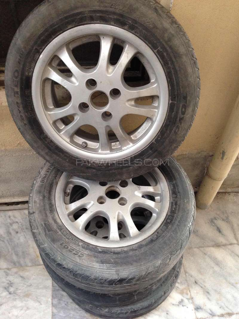 Alloy rims of Baleno 1.6 Gti original (OEM)14 inch Image-1