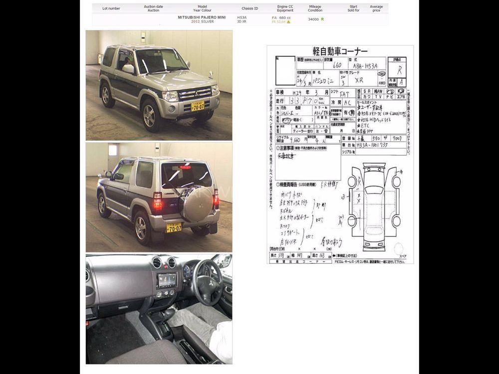 Mitsubishi Pajero Mini XR 2012 Image-1