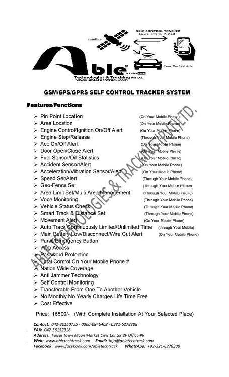 Self Control Car Tracker System. life time free with install Image-1