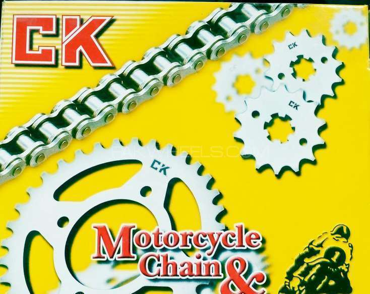 CHAIN sprocket ck Thailand made for bikes available at nouman Autos Image-1