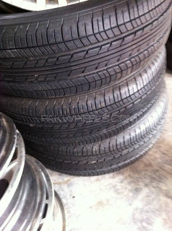 195/65R14 Yokohma tyres with steel rims  Image-1