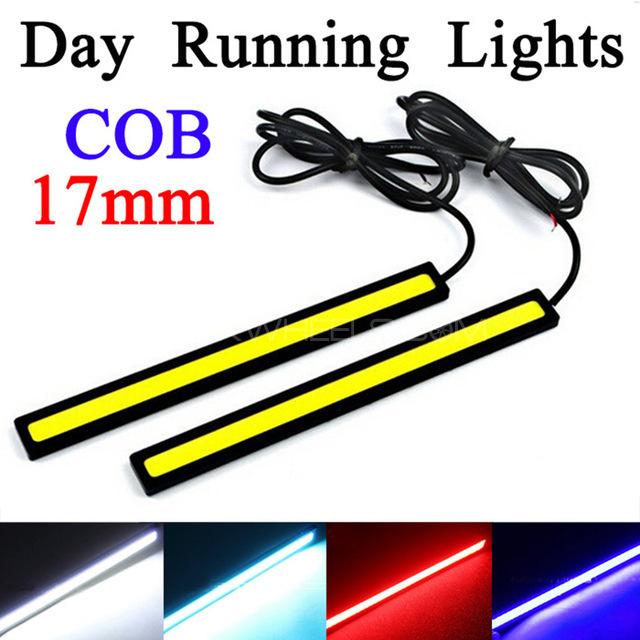 2Pcs 17CM LED COB DRL Daytime Running Lights Waterproof DC12V  Image-1