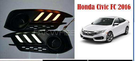 Honda civic fog lamp drl cover model 2016-2017 Image-1