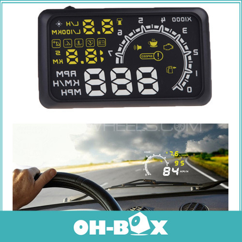 "HUD Head Up Display For OBD2 Cars ""Model W02"" All Pakistan-Lahore Shop Image-1"