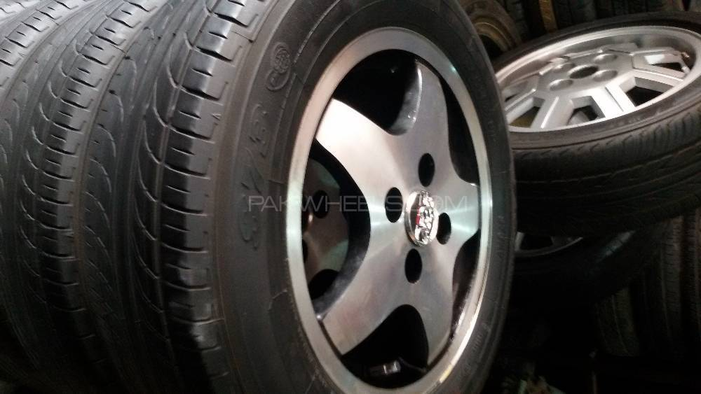 165/70r14 yokhama tyres & alloy rims very good condition 0 fault Image-1