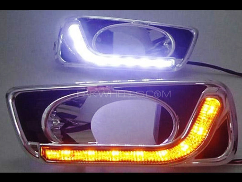 Honda City LED DRL Fog Covers - 2013-2017 in Lahore