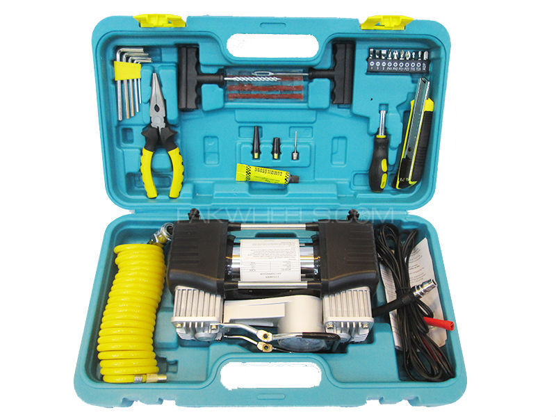 Double Cylinders Air Compressor With Complete Tool Kit Image-1