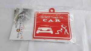 Hanging Tag for windshield Do Not Touch My Car in Lahore