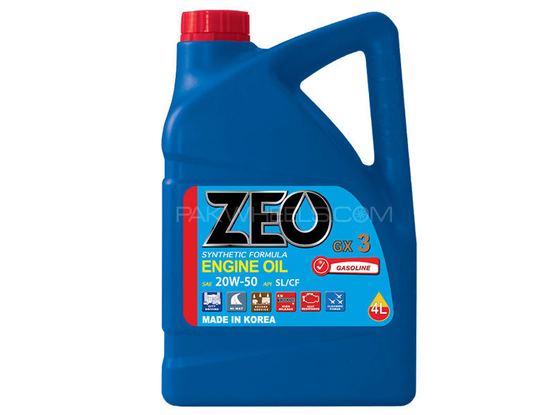 ZEO 3Ltr Synthetic Formula Engine Oil - GX3 20W50 SL/CF in Lahore