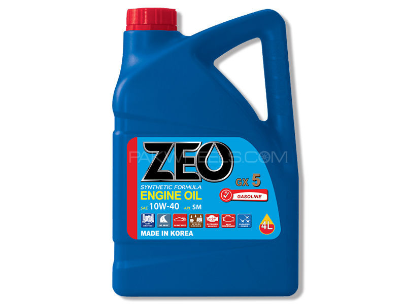 ZEO 3Ltr Synthetic Formula Engine Oil - GX5 10W40 SM in Lahore