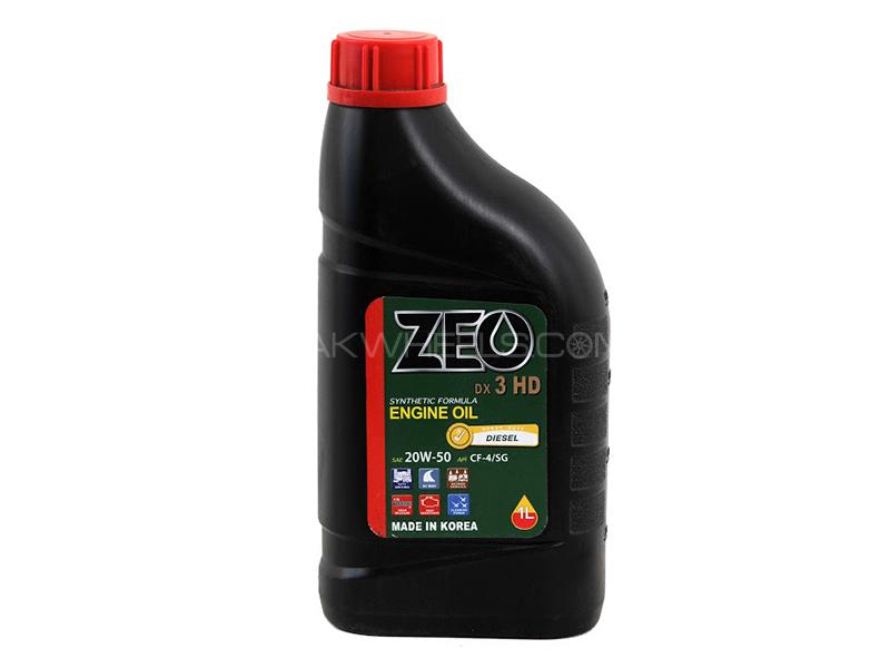 ZEO 1Ltr Synthetic Formula Diesel Engine Oil - DX3 HD 20W50 CF4/SG Image-1