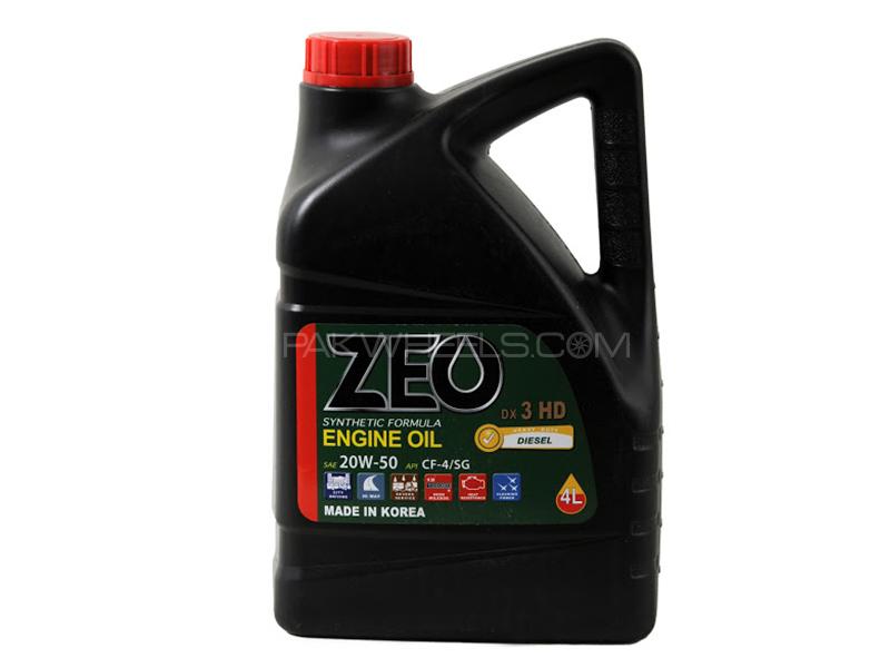 ZEO 4Ltr Synthetic Formula Diesel Engine Oil - DX3 HD 20W50 CF4/SG Image-1