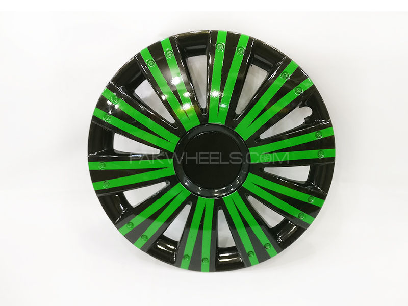 "X8 Wheels Cover Two Tone 12"" Green Black  - 1292 in Lahore"