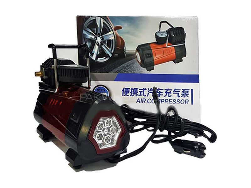 Portable Air Compressor With Led Light  in Lahore