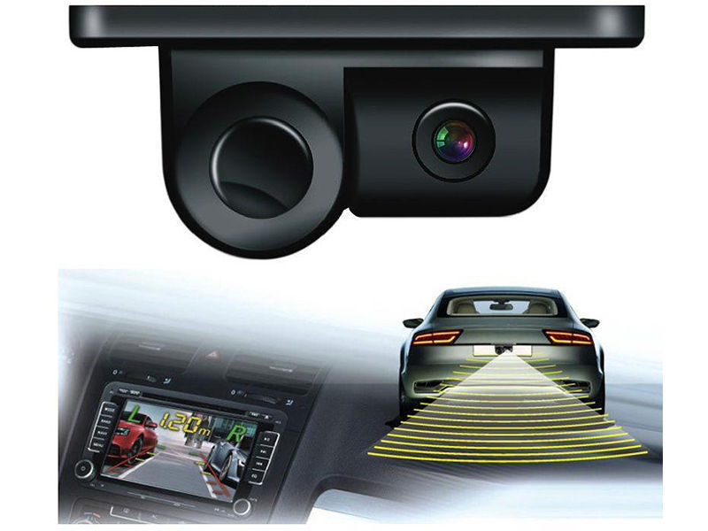 2 In 1 Parking Assistant Camera + Sensor With Buzzer  - TW Image-1