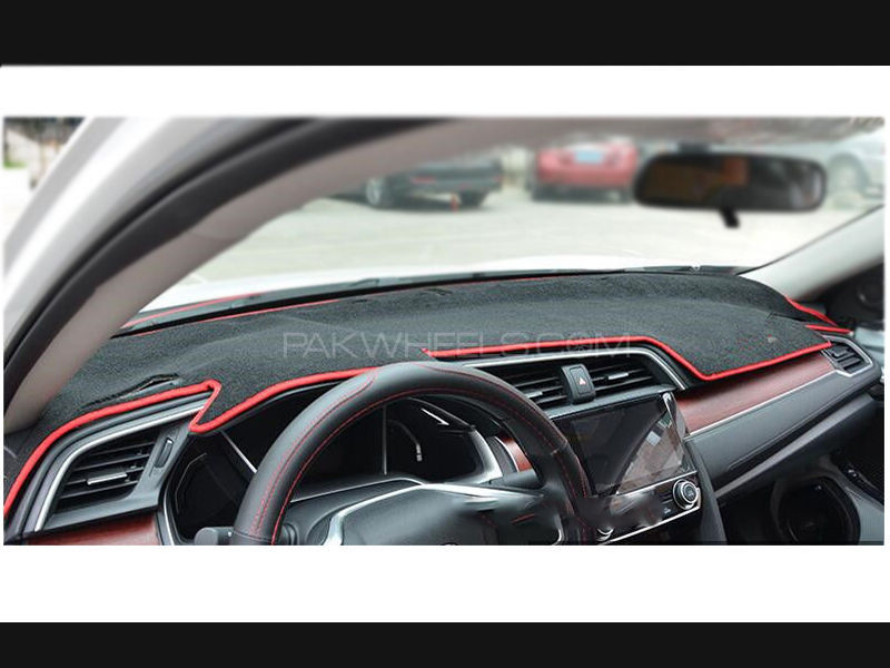 Honda Civic X Black Red Dashboard Mat
