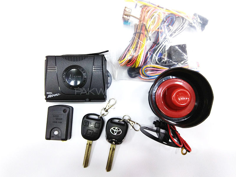Bemaz Car Alarm System With Key -K 05 Image-1