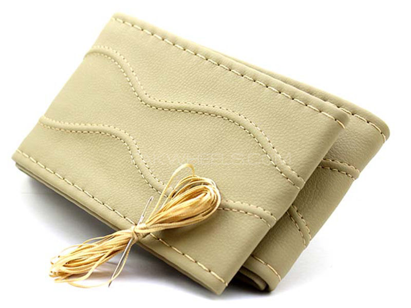 Unstitched Steering Cover Net Style - Beige in Karachi