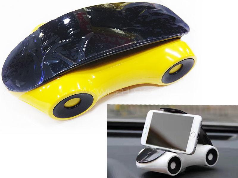 Universal Car Shape Mobile Holder - Yellow Image-1
