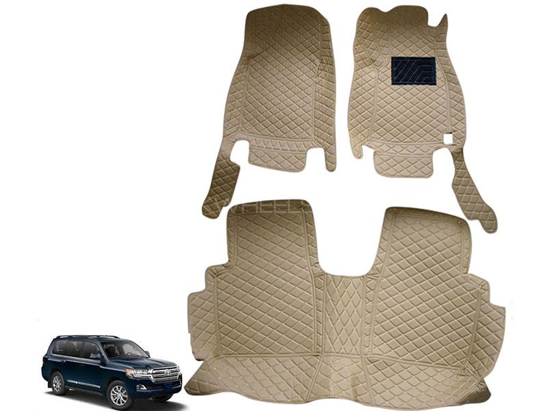 Toyota Land Cruiser Luxury 7D Mats - Beige in Karachi