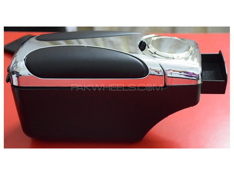 Universal Multi Console Box Armrest Black & Silver - 48007 in Karachi