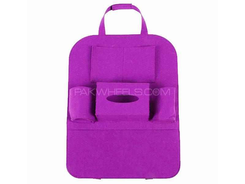 Universal Back Seat Organizer - Purple in Karachi