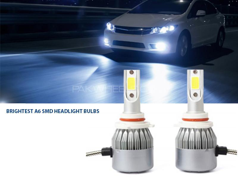 Brightest A6 SMD Headlights Bulb - H4 Image-1