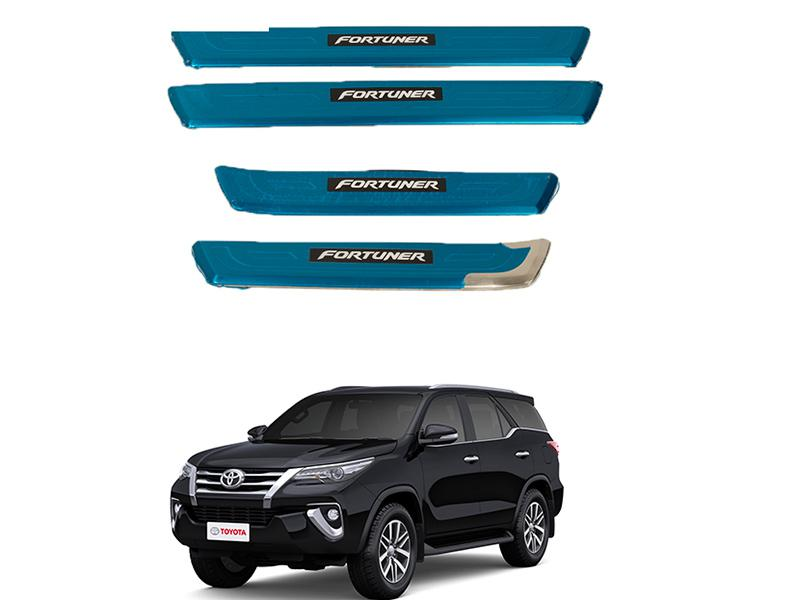 Toyota Fortuner Door Sill Steps Chrome 2016-2020 Image-1
