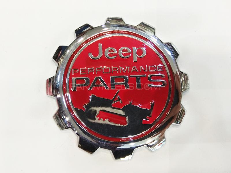 Jeep Performance Metal Logo - Red in Karachi