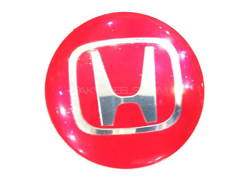 Honda Rim Cap Sticker - Red  Image-1