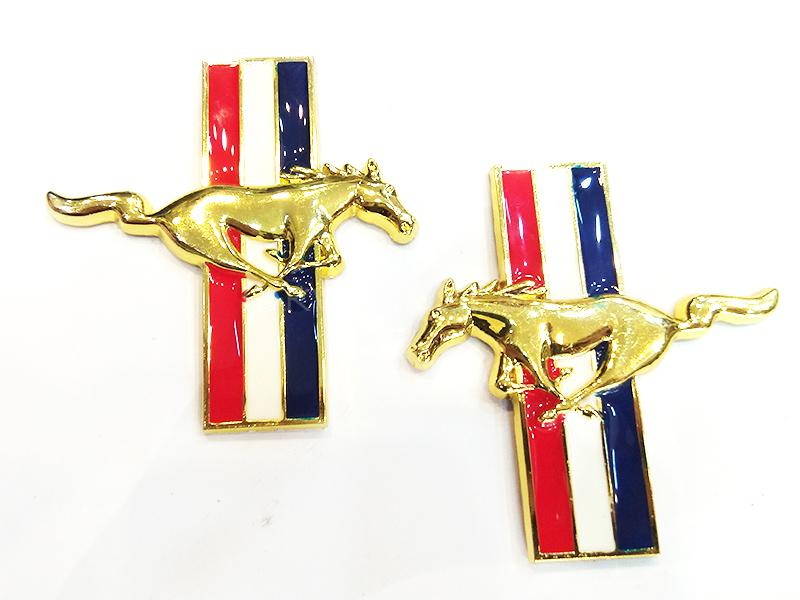 Horse Metal Logo - Golden  Image-1