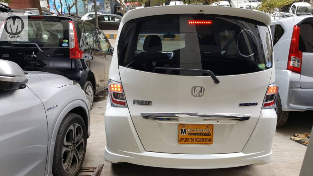 Honda Freed 2013 Model 1500 Hybrid 89,000 km Pearl white Colour 4 Grade  Complete Auction Sheet Available,  Just Like A Brand New Car.   ===================================   Merchants Automobile Karachi Branch,  We Offer Cars With 100% Original Auction Report Based Cars With Money Back Guarantee.  Recommended Tips To Buy Japanese Vehicle:   1. Always Check Auction Report.  2. Verify Auction Report From Someone Else.  3. Ask For Japan Yard Pics If Possible.   MAY ALLAH CURSE LIARS..