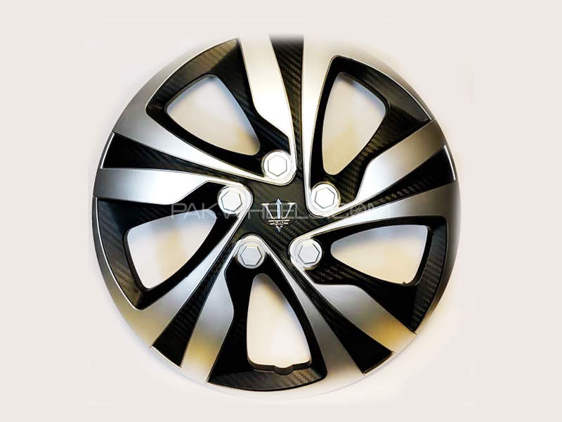 "X8 Wheel Cover Evo Silver Carbon S7 15"" in Lahore"