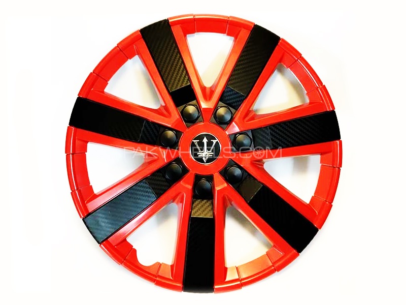 "X8 Wheel Cover Red Carbon S5 15"" in Lahore"