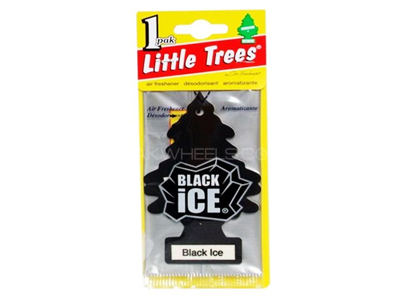 Little Trees Black Ice Hanging Car Air Freshener Image-1