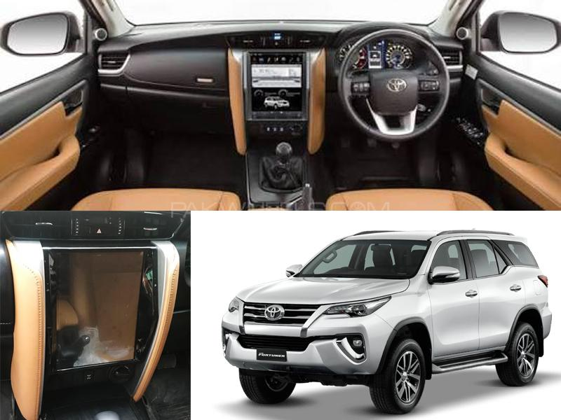 Toyota Fortuner LCD Multimedia System Android GPS Tesla Style - 2016-2017 in Karachi