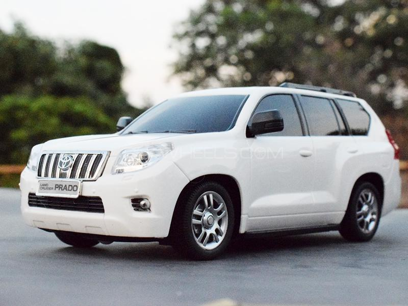 Toyota Land Cruiser Prado Remote Control Die Cast - White Image-1