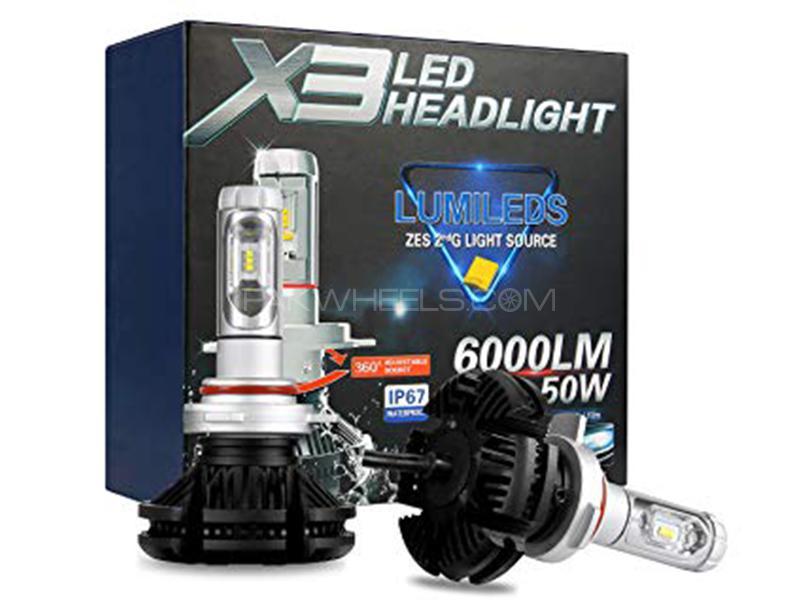 X3 LED Ultra White 6000 Lumens 50 Watt - 9005 in Karachi