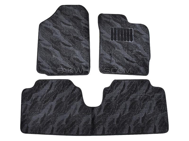 Carpet Floor Mats For Toyota Vitz 2010-2019 - Black Image-1