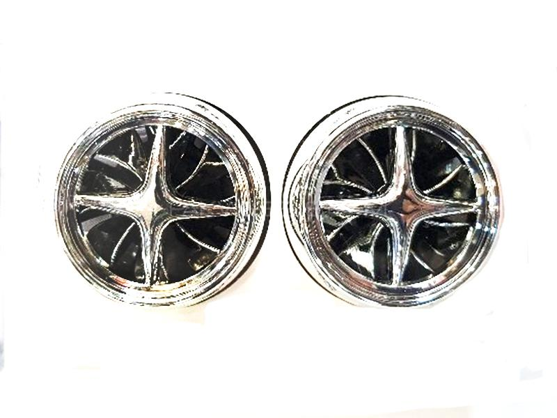 Alloy Wheel Vent Clip Air Freshener - Silver Image-1