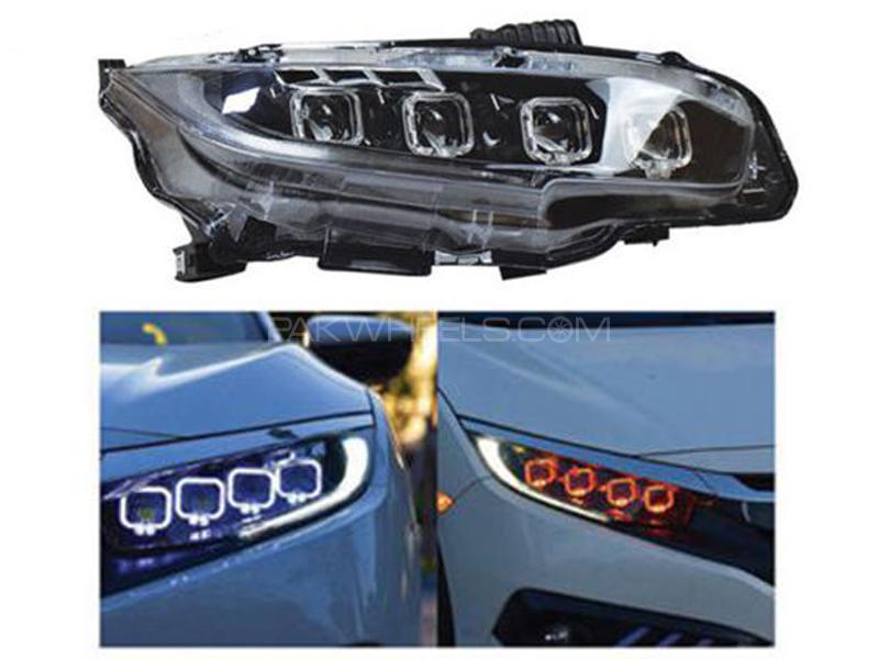 Honda Civic Bugatti Style LED Headlamps - 2016-2019 Image-1