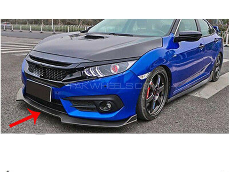 Carbon Fiber Front Bumper Lip For Honda Civic 2016-2019