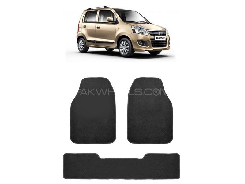 Kenco Carpet Floor Mats For Pak Suzuki Wagon R Black Image-1